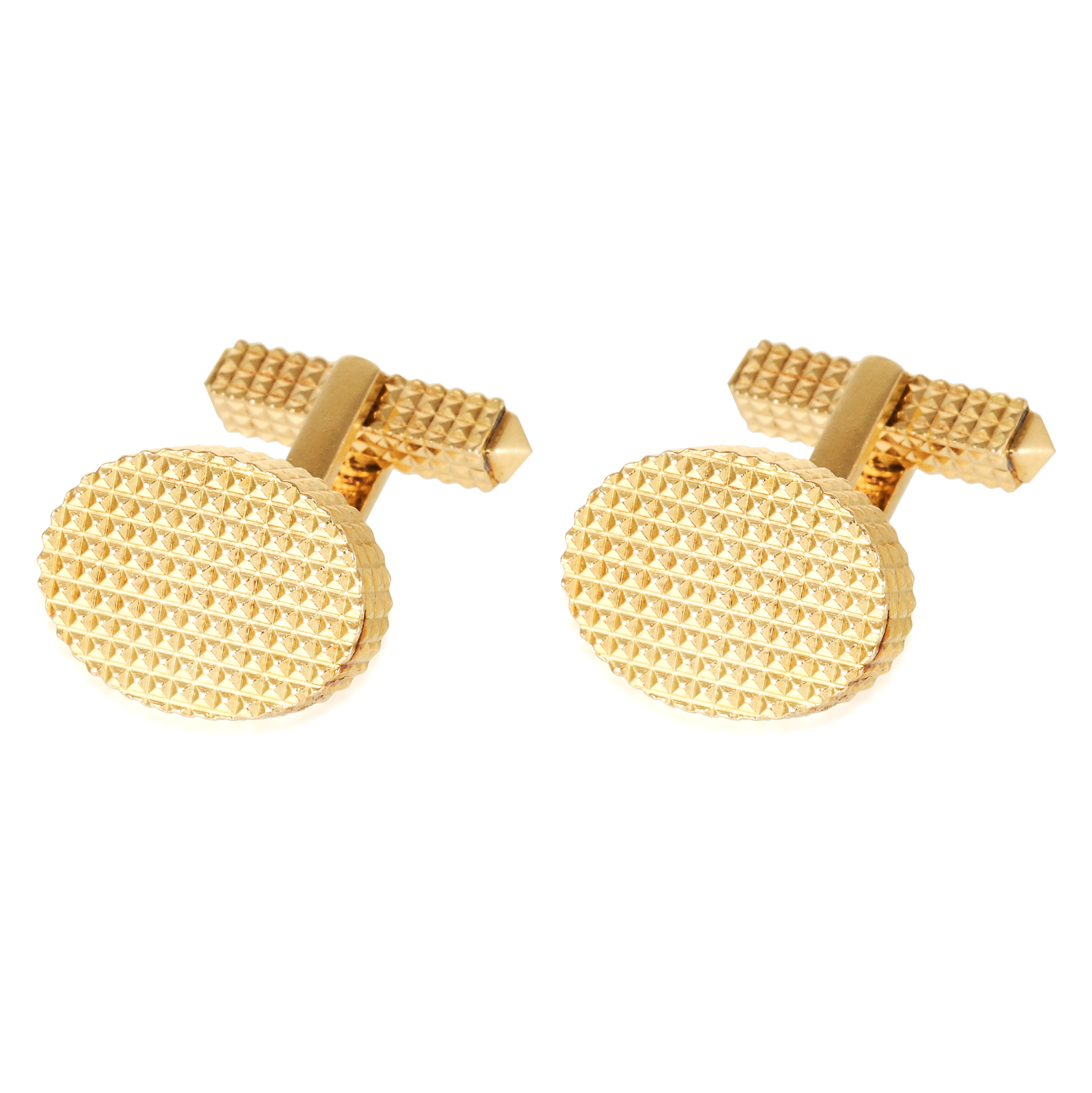 A PAIR OF HOBNAIL CUFFLINKS, TIFFANY & CO, CIRCA 1970s in 18ct yellow gold, with textured design,