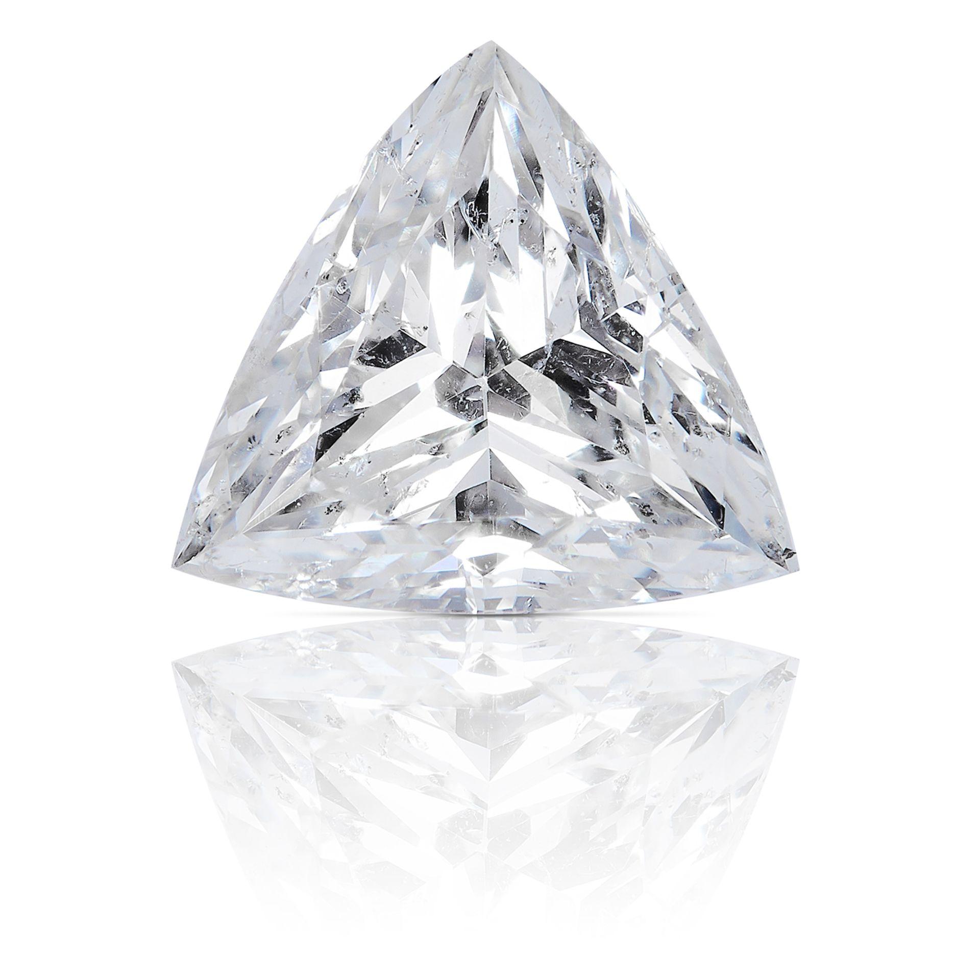 A 1.12ct TRIANGULAR BRILLIANT CUT DIAMOND, UNMOUNTED.