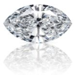 A 0.43ct MARQUISE CUT DIAMOND, UNMOUNTED.