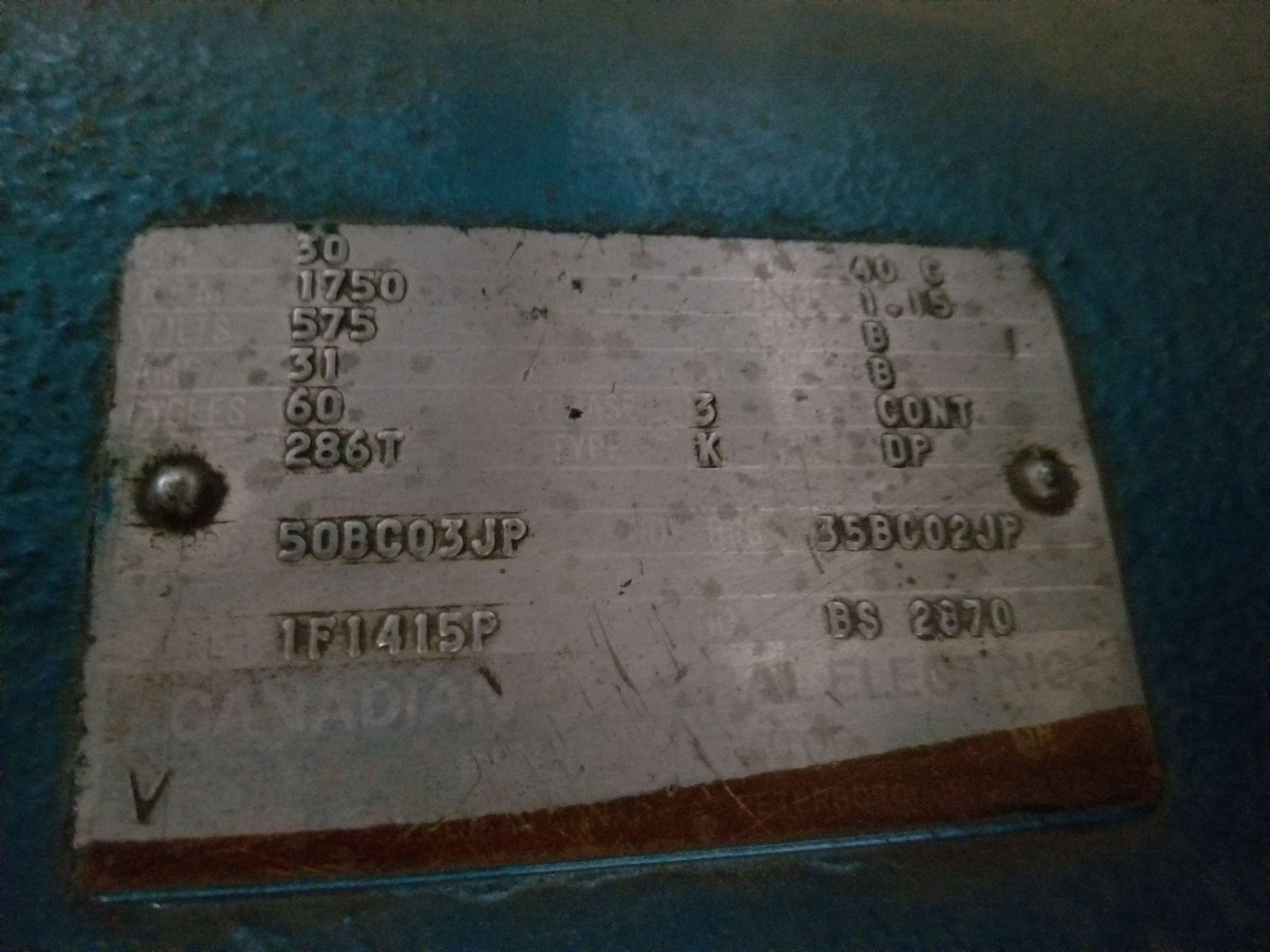 575 volt compressor, dryer, cooler / Compresseur 575 volts, assécheur - Image 2 of 4
