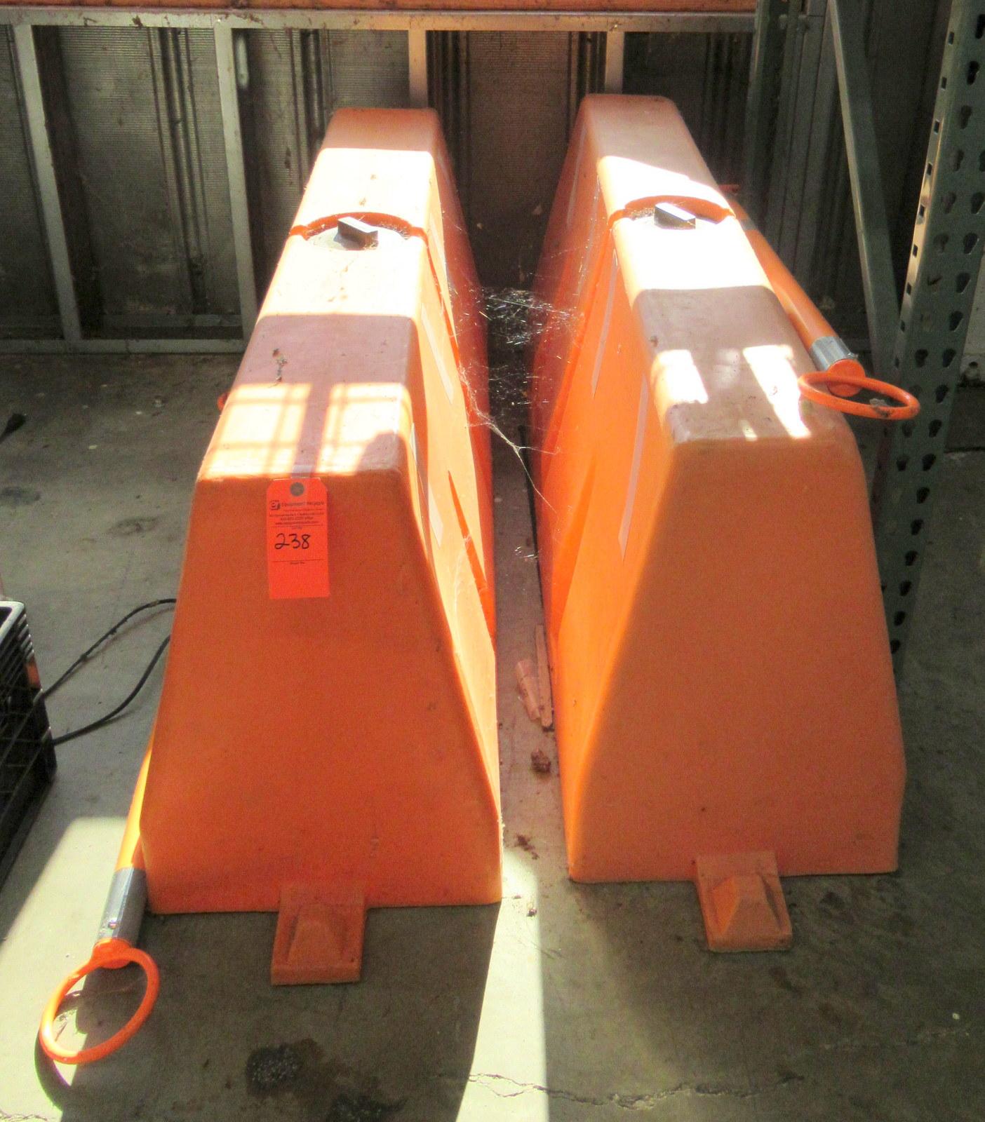 "Lot 238 - Uline H-4583 Safety Barricades 60"" x 16"" x 24"""