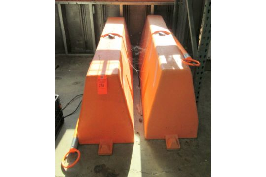 2 Uline Safety Barricades  Approximately 60
