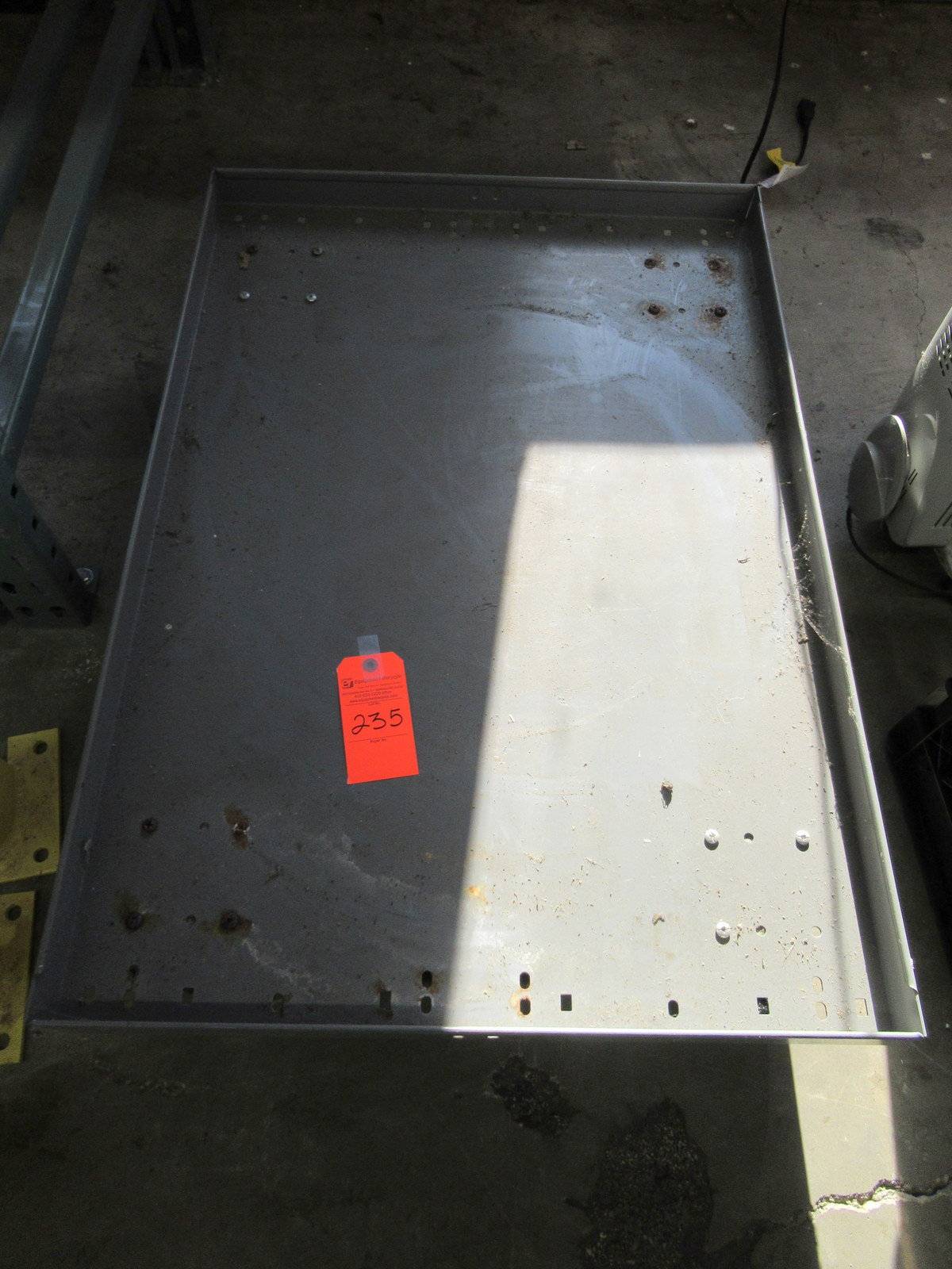 "Lot 235 - Uline Steel Cart 37"" x 25"" x 8"""