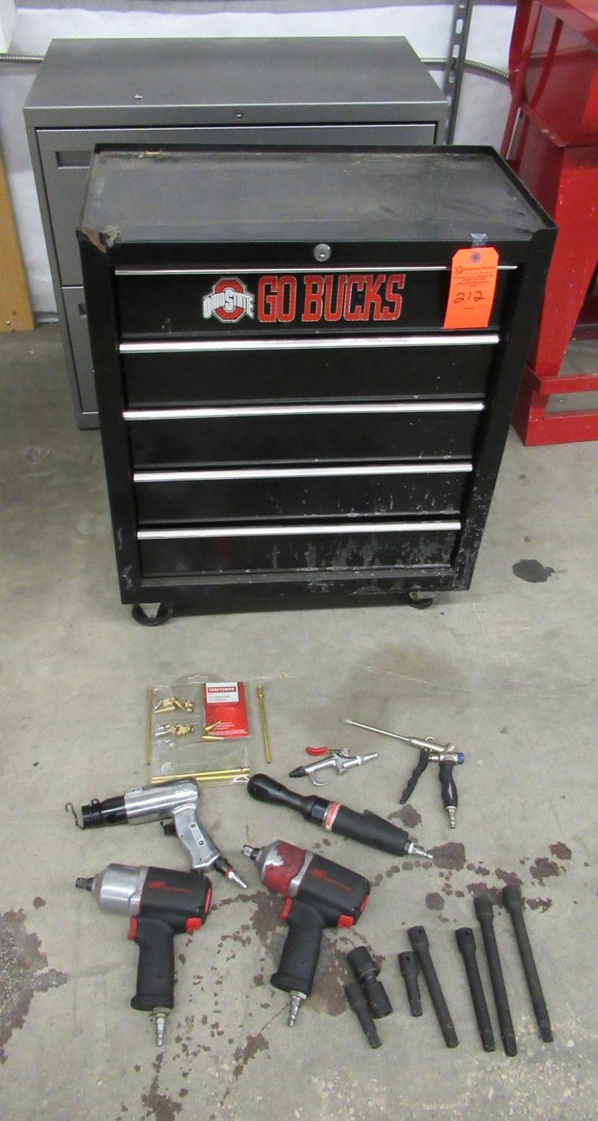 Lot 212 - Craftsman, Ingersol Rand Tool Boxes & Tools