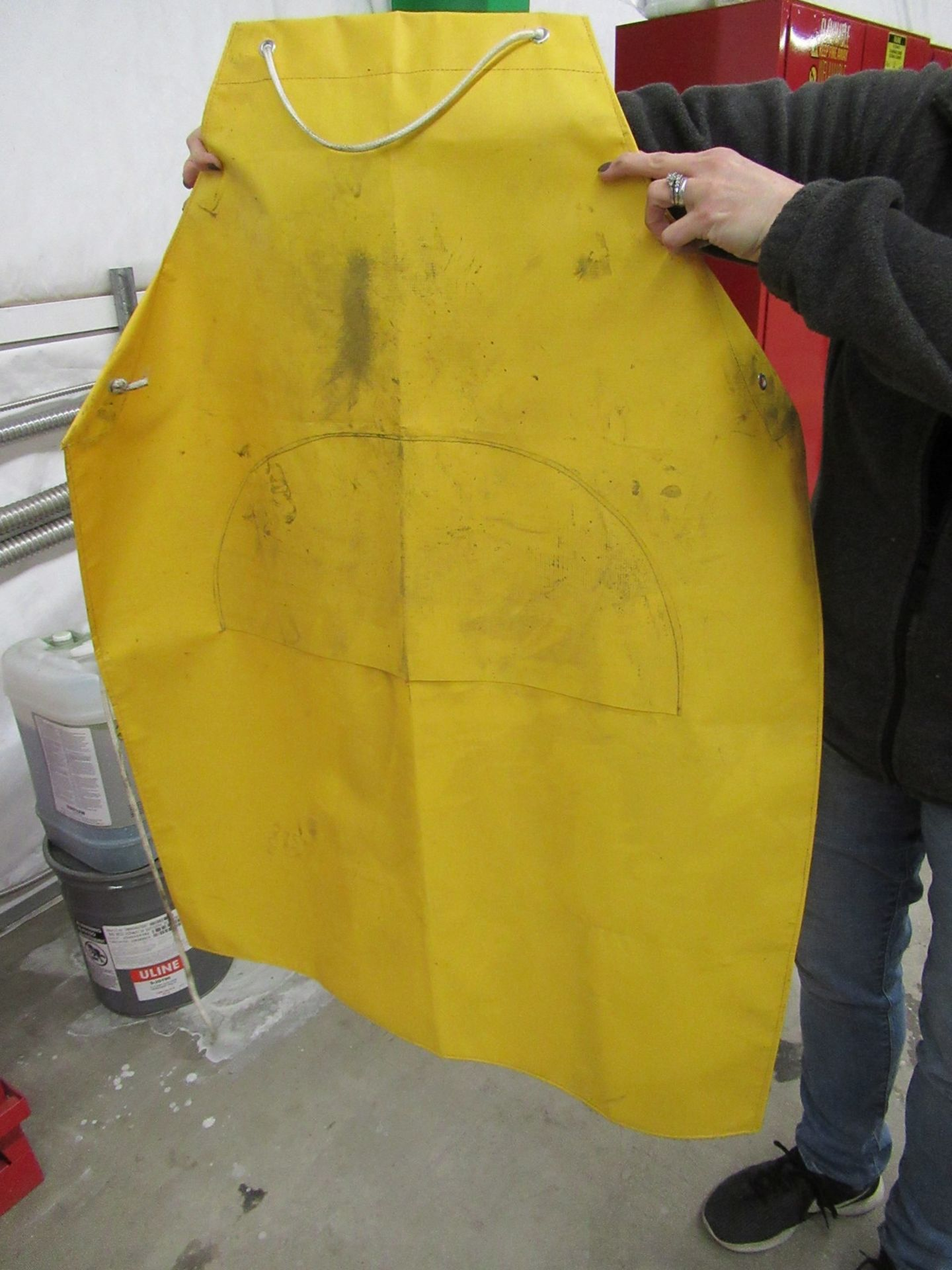 Lot 213 - Justrite Flammable Liquid Rinse Tank & Apron 11 Gallon