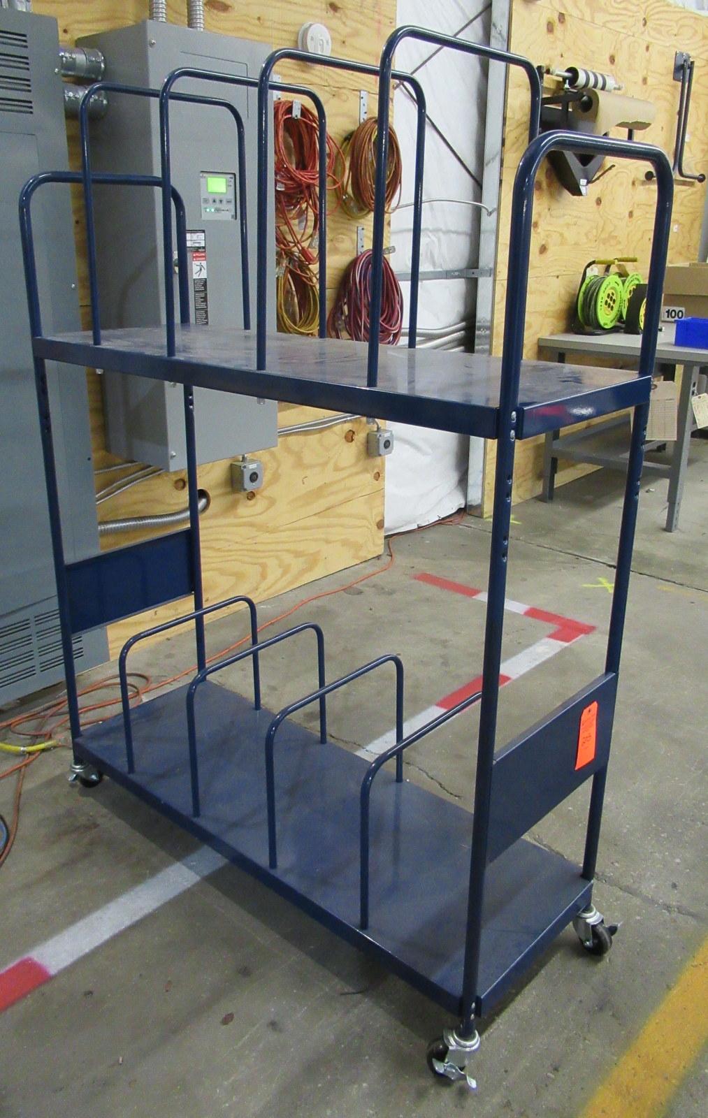 """Lot 205 - Blue Steel Shipping Cart 18"""" W x 51"""" L x 67"""" H"""