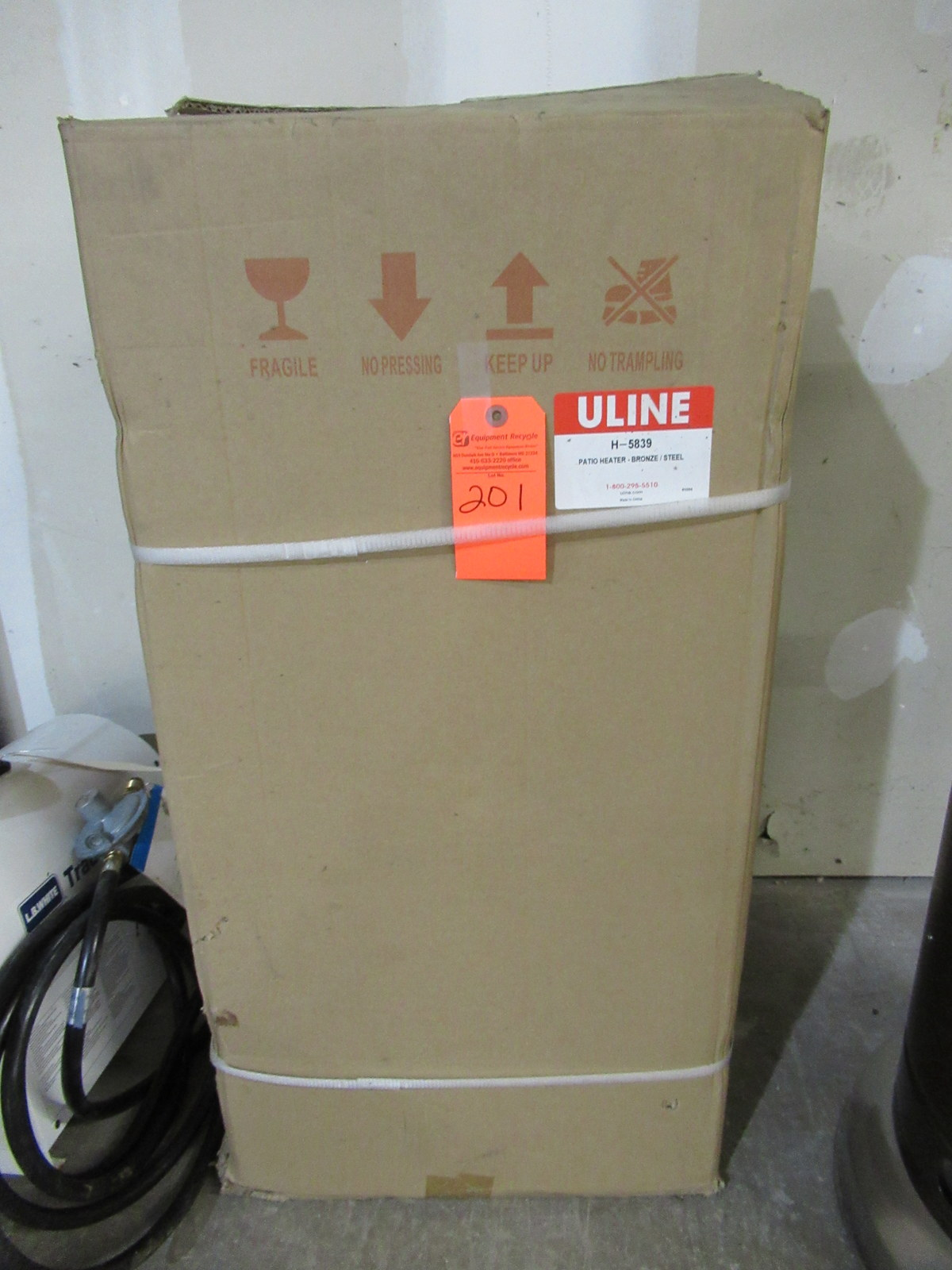 Lot 201 - Uline H-5839 Patio Heater New Bronze