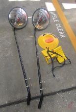 Lot 239 - Inspection Mirrors, Wheel Chocks & Dock