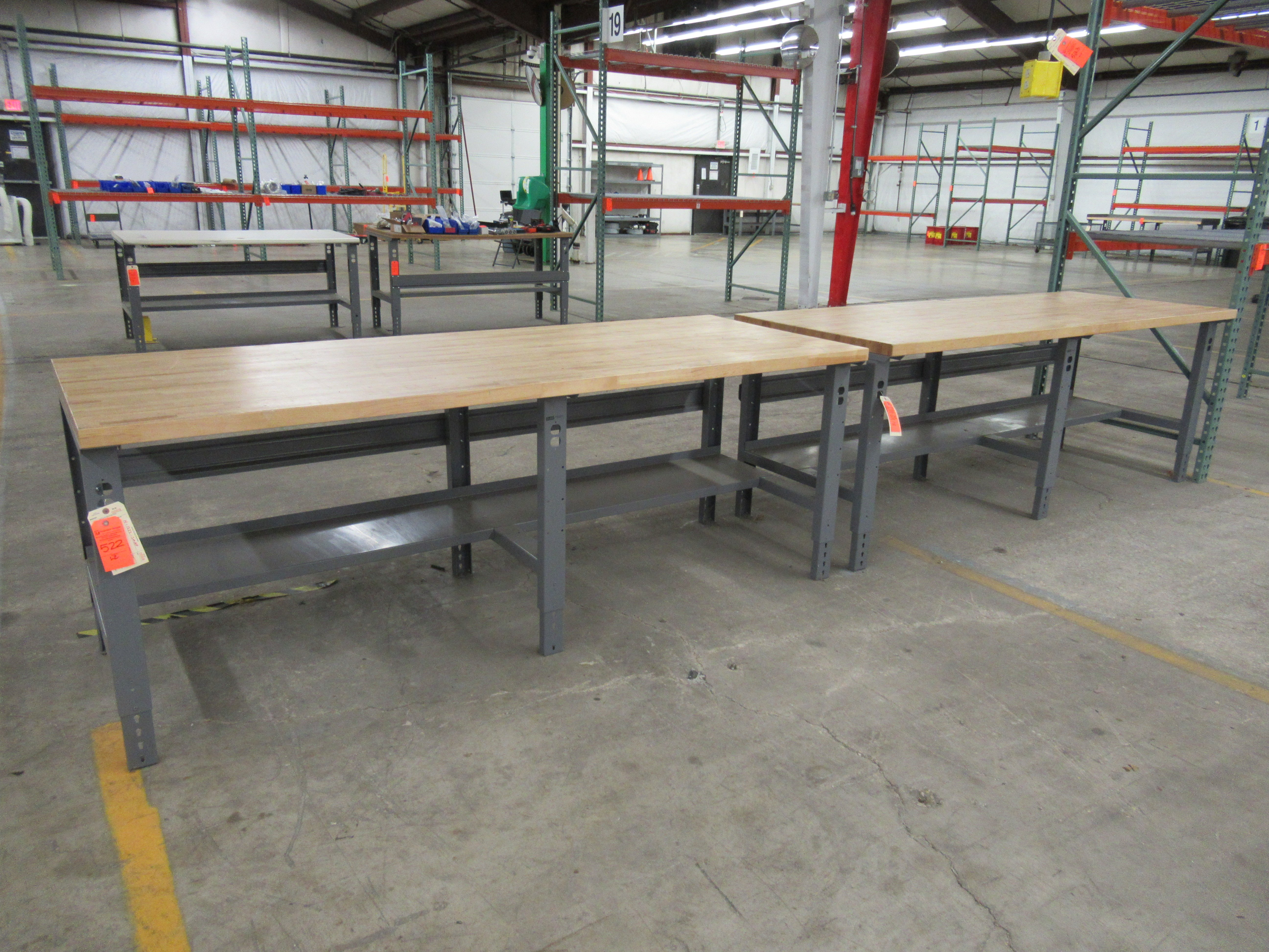 "Lot 224 - 2 Uline H-1222-MSAP Industrial Packing Tables 96"" x 36"""