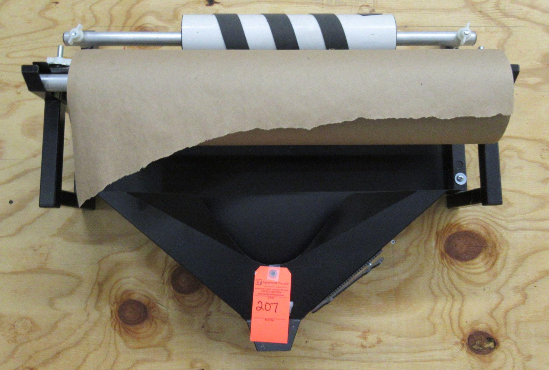 Lot 207 - Paper Dispenser & Bubble Wrap Bars