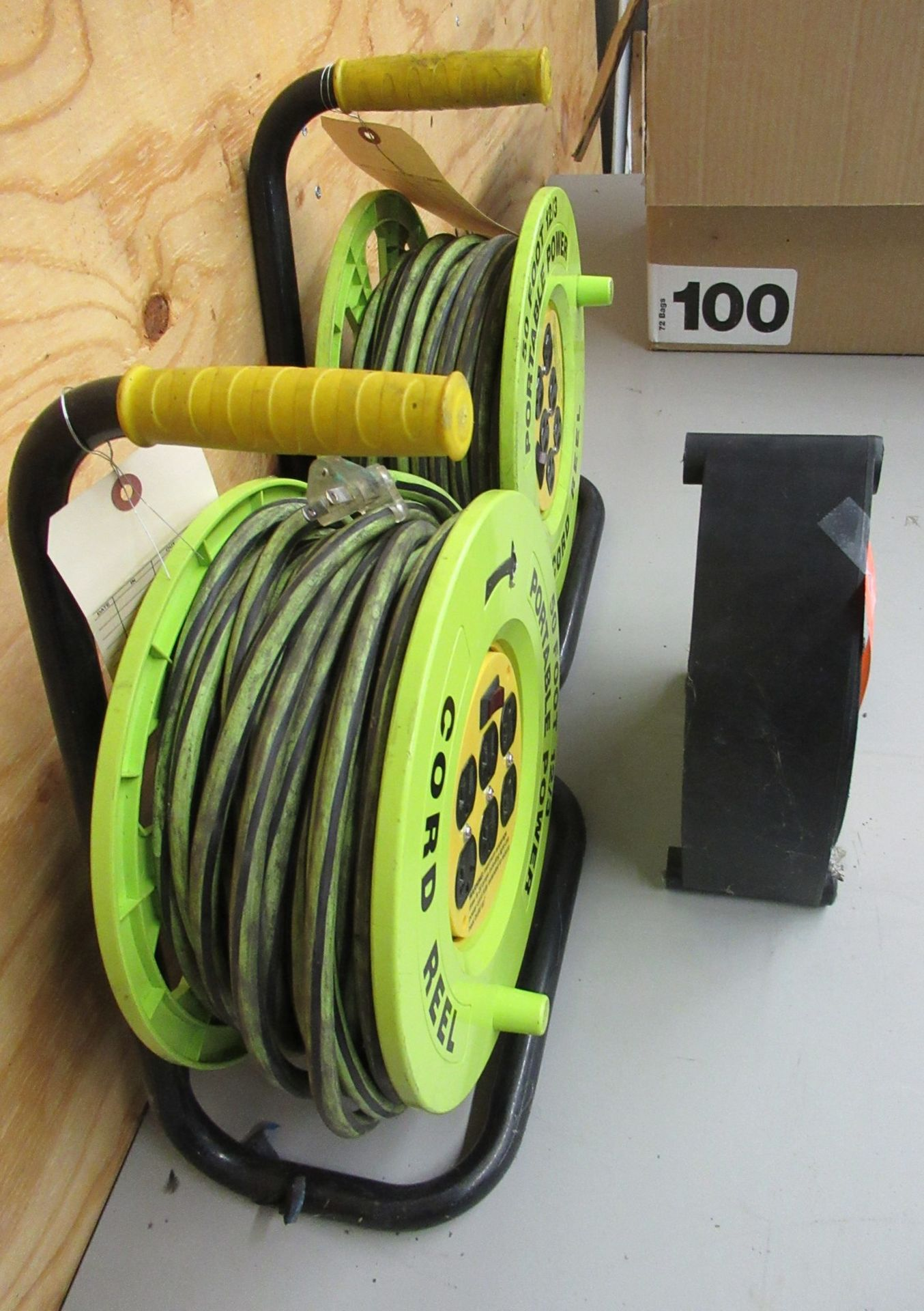 Lot 206 - 3 Heavy Duty Extension Cord and Reels S-19880 50 ft & 4 Extension Cords