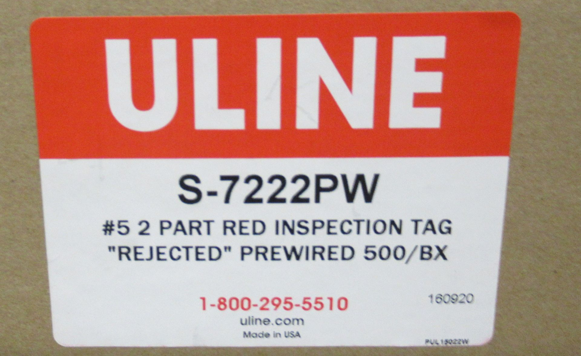 Lot 211 - Uline Shipping Shipping Tags, Inspection Tags, Inventory Tags, and Assorted Bags in Different Sizes