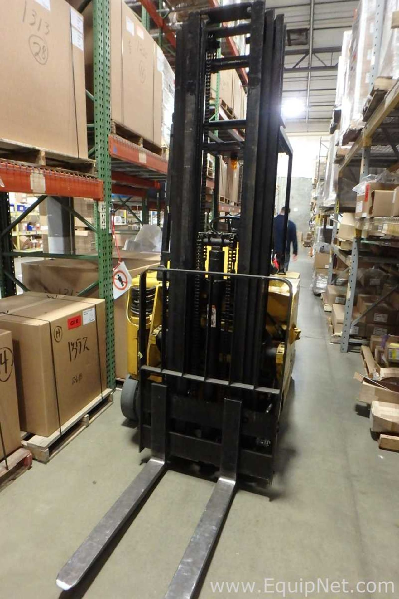 Lot 51 - Drexel SLT30 Battery Operated Narrow Aisle Sit-Down Fork Lift