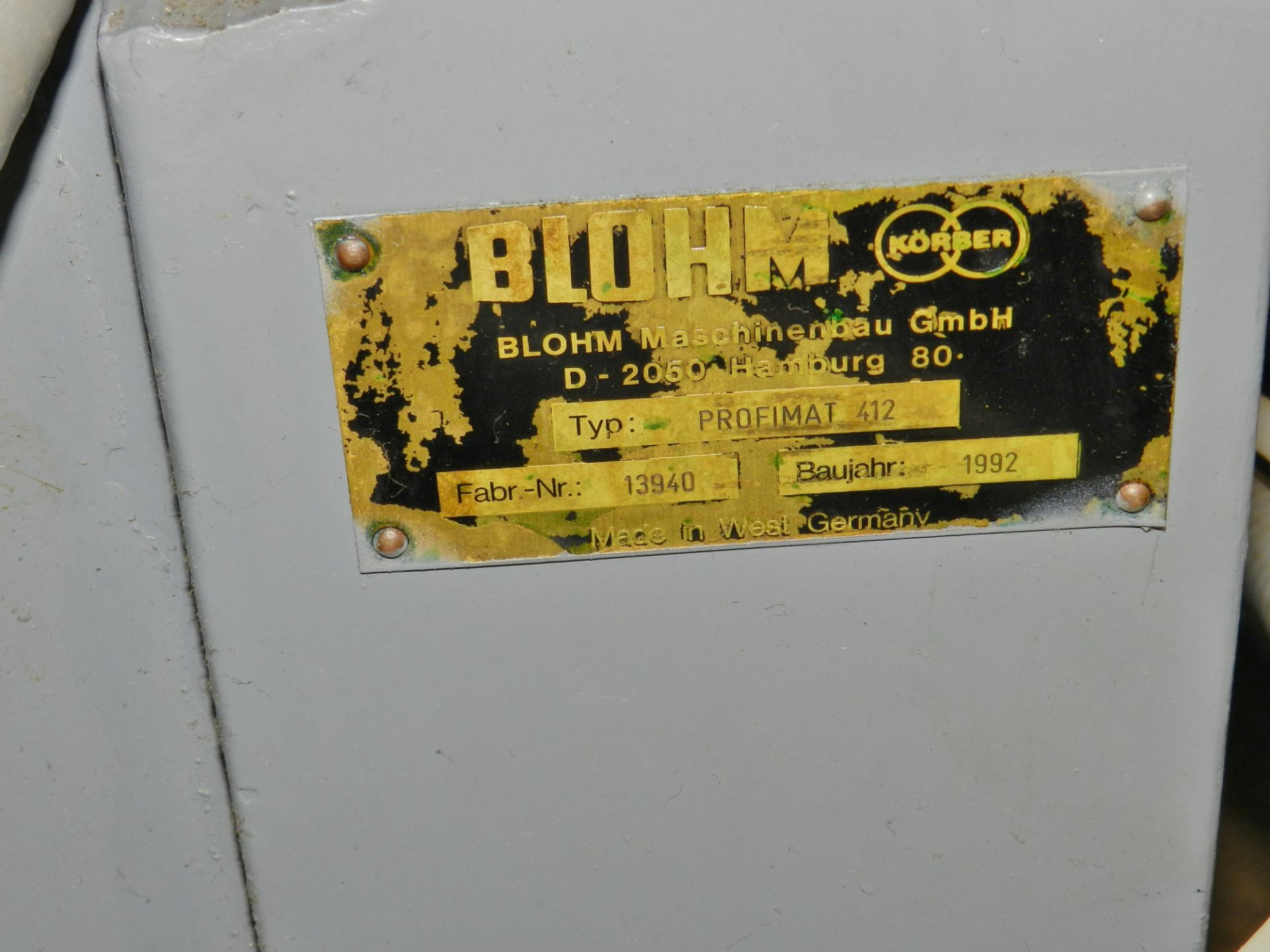 Lot 34 - Blohm Profimat 412 Creep Feed CNC Grinder
