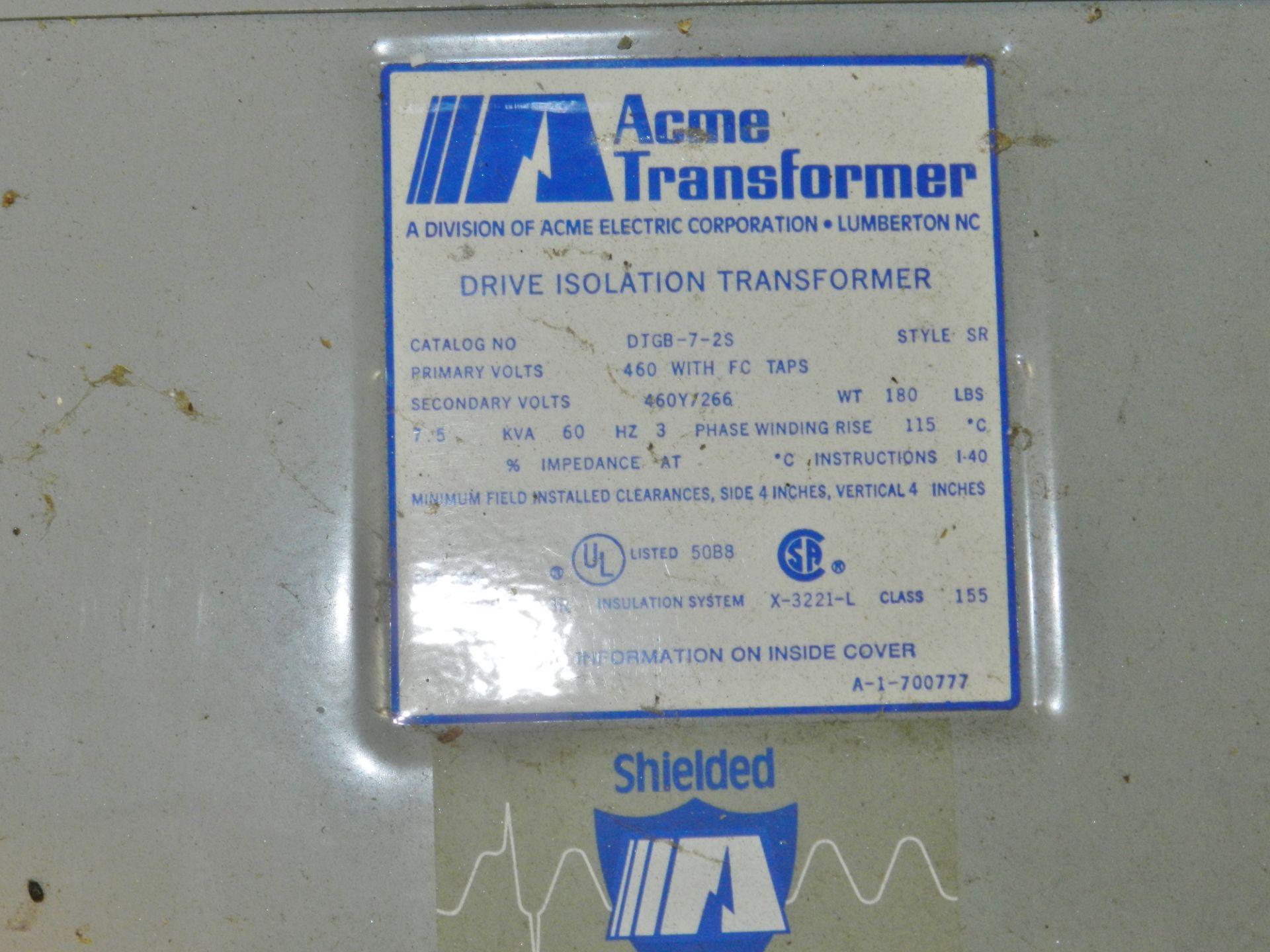 Lot 18 - Acme 7.5 KVA DTGB-7-2S Transformer