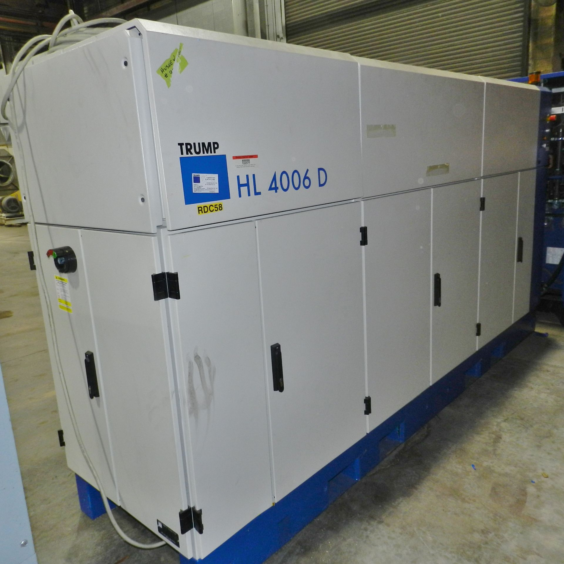 Lot 37 - Trumpf YAG HL4006D Laser Welding CW Solid State 4000W W/ Chiller