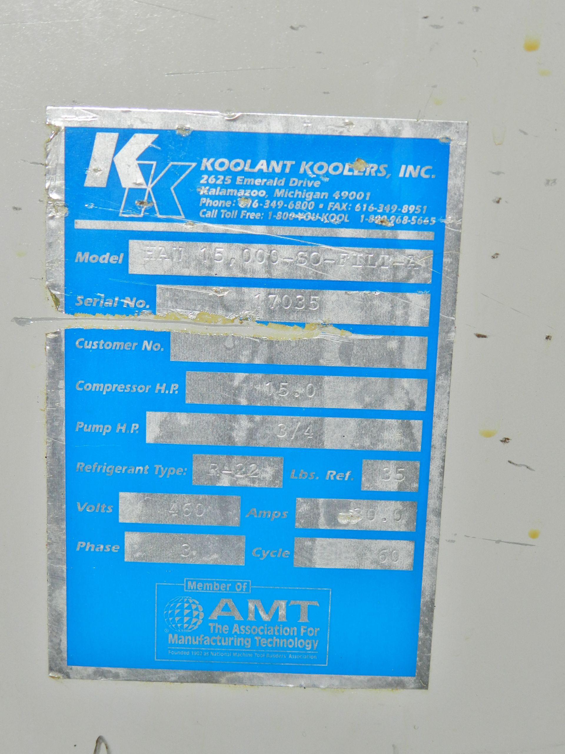 Lot 21 - Koolant Koolers 14 Ton Chiller HAW 15,000-SO-FILT-A