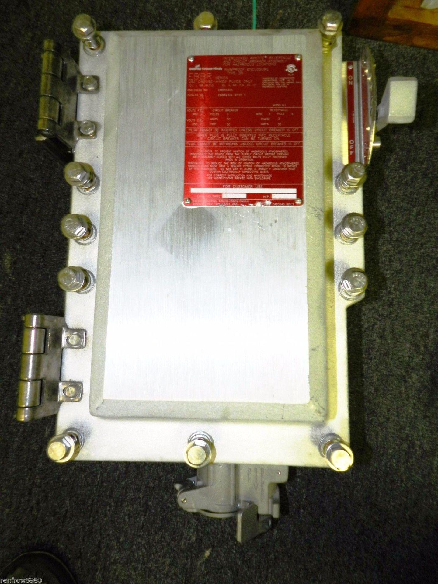 Lot 12 - Lot of 2 Crouse Hinds Arktite Interlock Receptacle w/30 Amp Breaker