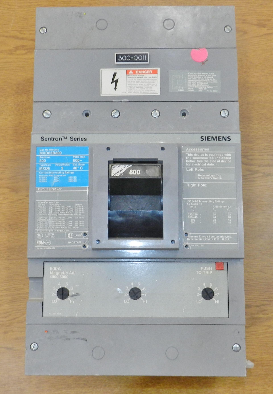 Lot 2 - Lot of 10 Siemens Breakers (175A-800A)