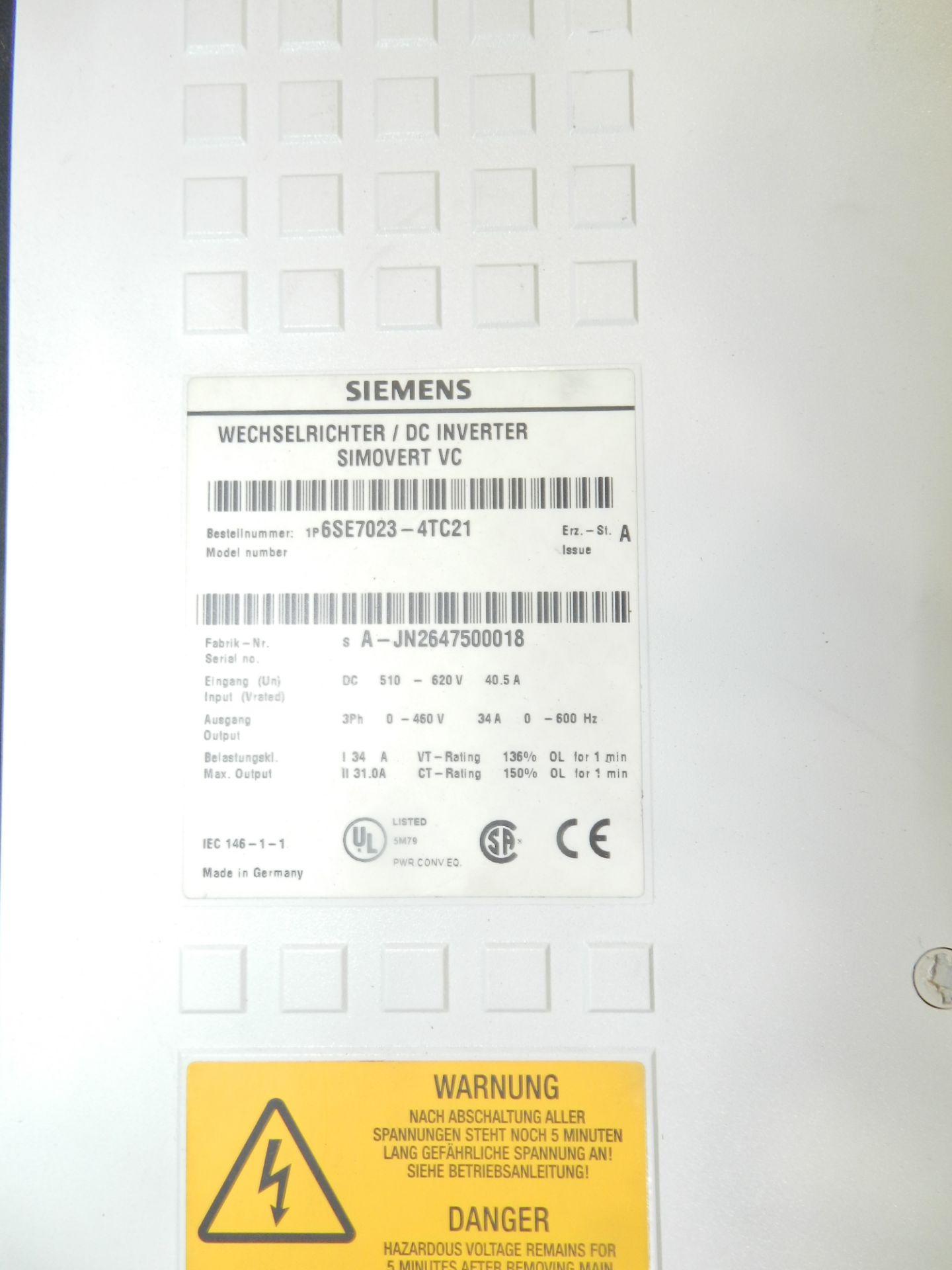 Lot 49 - Lot of 2 Siemens DC Inverter Simovert Master Drive