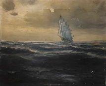 """William A. Brigl (Amerika 1903-1990) """"Ein Blick auf das letzte Jahrhundert, Öl auf Leinwand,"""