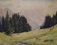 Lucia Kollbach-Lux (1890-1972), Berglandschaft, Öl auf Leinwand, Maße: 61x76 cm, gerahmt