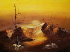 Herbstlandschaft, Acryl auf Leinwand, monogrammiert: LS,gerahmt, 60x80cm