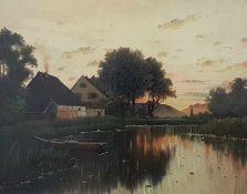 "August Zeidler (Doloplaß 1892-1963 Wien)Landschaftsgemälde"" am Seeufer "", signiert, datiert :Zeidler"