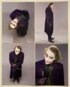 THE DARK KNIGHT / HEATH LEDGER (4 in Lot) - Promotional photos (not Studio stamped) from THE DARK