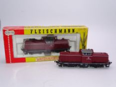 HO GAUGE - A pair of FLEISCHMANN German Diesel loc