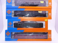 HO GAUGE - A group of European Outline passenger c