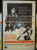 "MAN WITHOUT A STAR (1960's release) - US One Sheet - Military issue style - 27"" x 41"" (68.5 x 104"