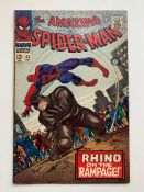SPIDER-MAN #43 (1966 - MARVEL) VFN- (Cents Copy) - Origin of Rhino. First full appearance of Mary
