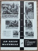 "ILL MET BY MOONLIGHT (1957) MOVIE LIFT BILL (22"" x16.5"" - 56cm x 42cm) - contained within ad sales"