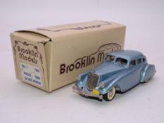 A BROOKLIN MODELS HANDBUILT WHITE METAL NO.1 AMERICAN CAR 1933 PIERCE ARROW - VG IN G BOX