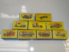 A GROUP OF EARLY MATCHBOX MODELS OF YESTERYEAR in MATCHBOX style boxes as lotted - G/VG in F/G boxes