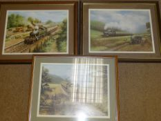 A GROUP OF THREE FRAMED AND GLAZED GREAT WESTERN RAILWAY RELATED PRINTS BY DON BRECKON as lotted - G