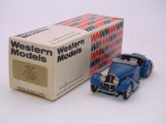 A WESTERN MODELS HANDBUILT WHITE METAL CAR WMS39 - 1938 BUGATTI 57 CORSICA TOURER - VG IN G BOX