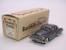 A BROOKLIN MODELS HANDBUILT WHITE METAL NO.10 AMERICAN CAR 1949 BUICK ROADMASTER - VG IN G BOX