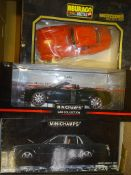 A GROUP OF LARGE SCALE MODEL CARS by BBURAGO and MINICHAMPS as lotted - VG/E in F/G boxes - (3)