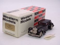 A WESTERN MODELS HANDBUILT WHITE METAL CAR WMS22 - 1932 BUCCIALI TAV 16 'SAOUTCHIK' - WITH UNUSED