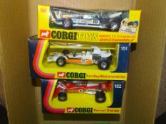 A GROUP OF CORGI FORMULA 1 RACING CARS to include 150 SURTEES T.S. 9 F/1 RACING CAR, 151 YARDLEY