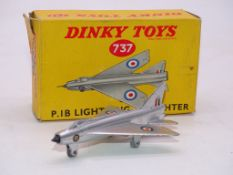 DINKY DIECAST AIRCRAFT: A 737 'P.1B LIGHTNING' - G/VG IN GENERALLY G BOX