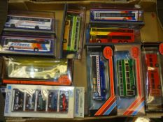 A GROUP OF MIXED DIECAST COACHES AND CARS BY EFE, CARARAMA and OOC as lotted - VG/E in G boxes (11)