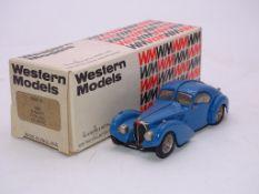 A WESTERN MODELS HANDBUILT WHITE METAL CAR WMS7X - 1938 BUGATTI TYPE 57SC - VG IN G BOX