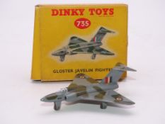 DINKY DIECAST AIRCRAFT: A 735 'GLOSTER JAVELIN' - VG IN GENERALLY G BOX
