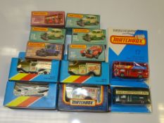 A TRAY CONTAINING VARIOUS MODELS BY MATCHBOX, SUPERFAST SERIES to include numbers: 17, 73, 38 and 47