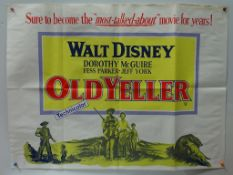 "OLD YELLER (1967) - British UK Quad - Folded (as issued) - 30"" x 40"" (76 x 101.5 cm) - Folded (as"