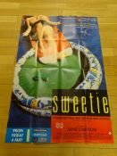 COLLECTION OF LARGE FORMAT BRITISH POSTERS (10 in Lot) to include SWEETIE (1990) / STATIC (1986) /