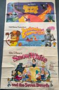 WALT DISNEY LOT (1970's) - (3 in Lot) - British UK Quad film posters - To include SLEEPING
